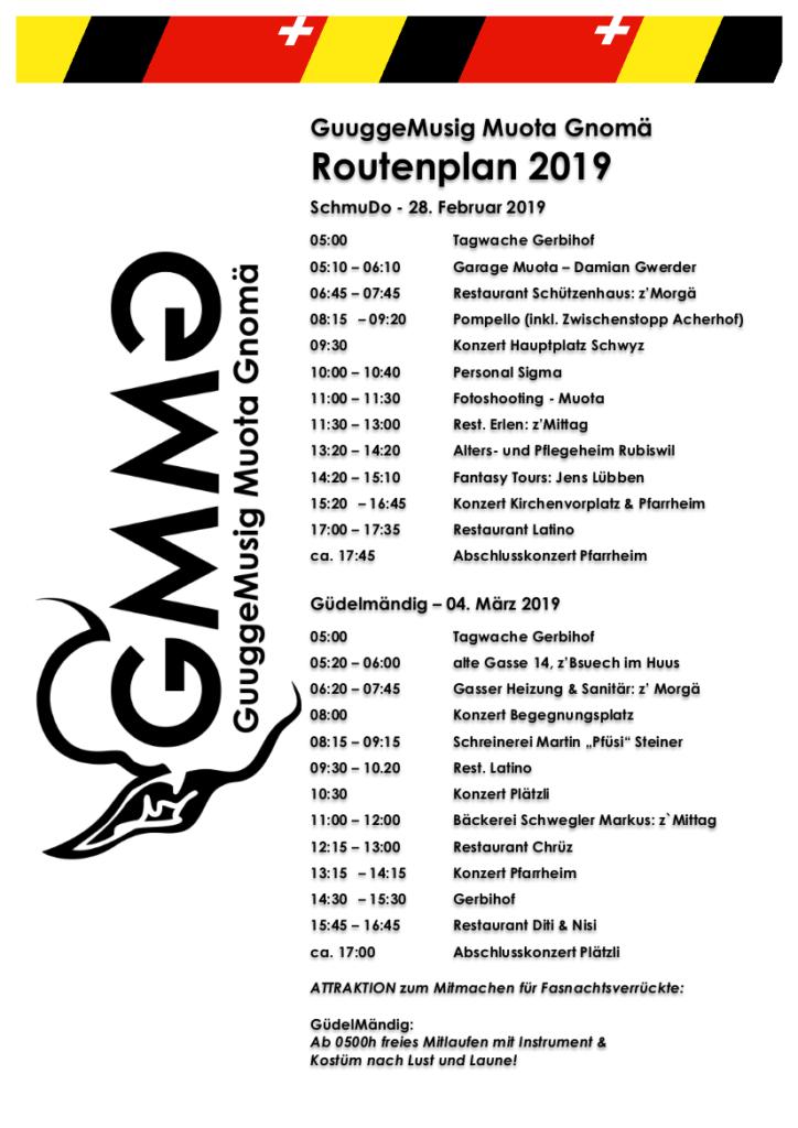 Routenplan Ibach Haupttage GMMG